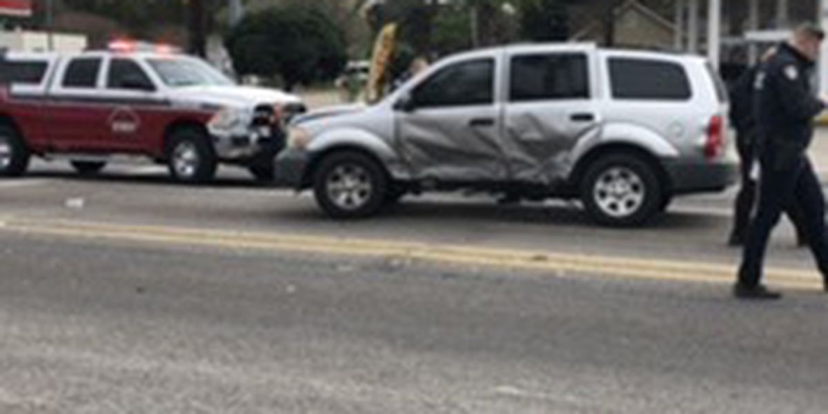 Unmarked police unit involved in accident on Plank Road