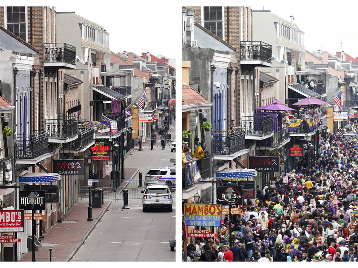 One year ago; Mardi Gras 2020
