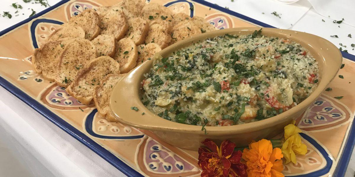 Crawfish, spinach and artichoke dip