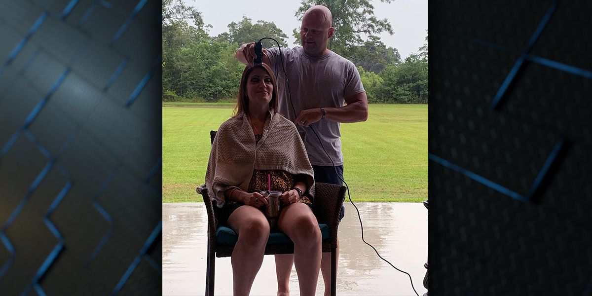Breast cancer fighter says 'find the good' and cuts hair