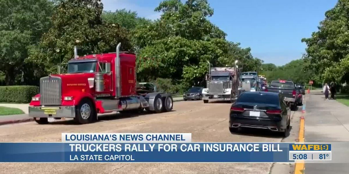 Truckers rally for car insurance bill at Louisiana State Capitol
