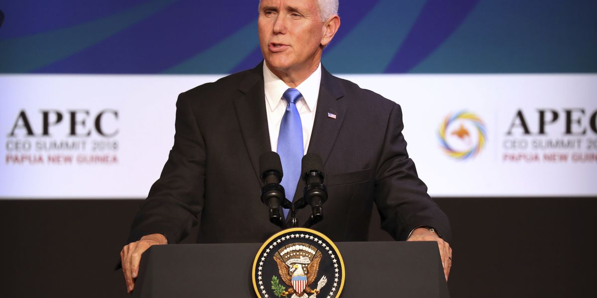 The Latest: Pence meets Taiwan's delegation at APEC summit