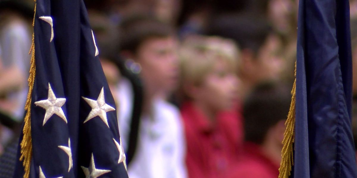 Annual Massing of the Colors ceremony held at Parkview Baptist