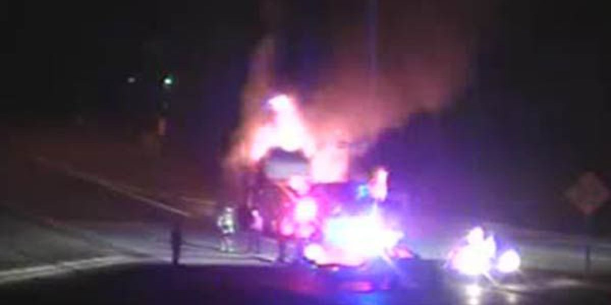Vehicle fire shuts down part of I-10