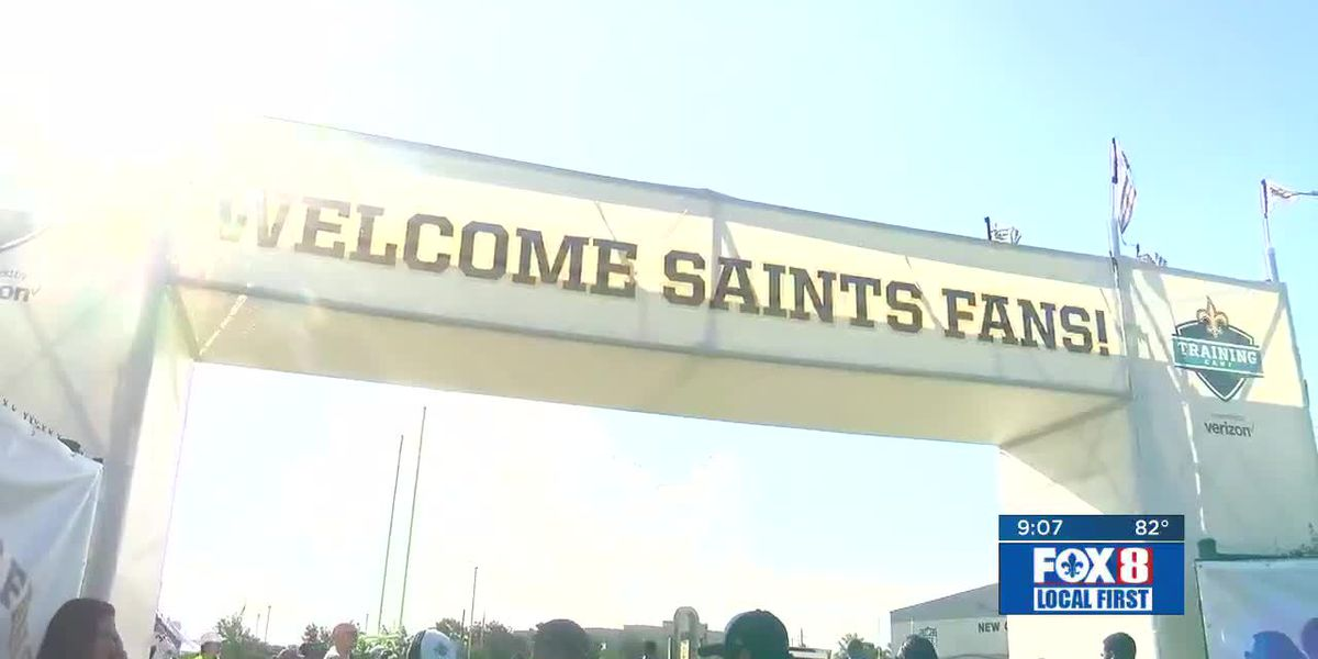'They have the heart, we're the spirit:' Saints fans pack Training Camp day 2
