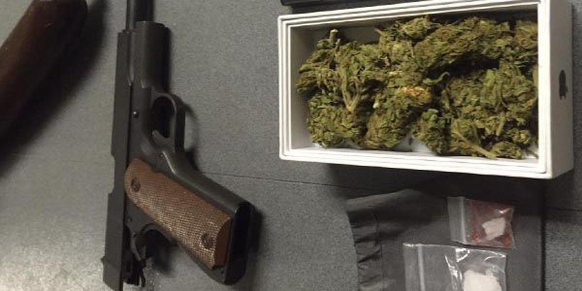 3 men arrested for drugs, guns, body armor, stolen property
