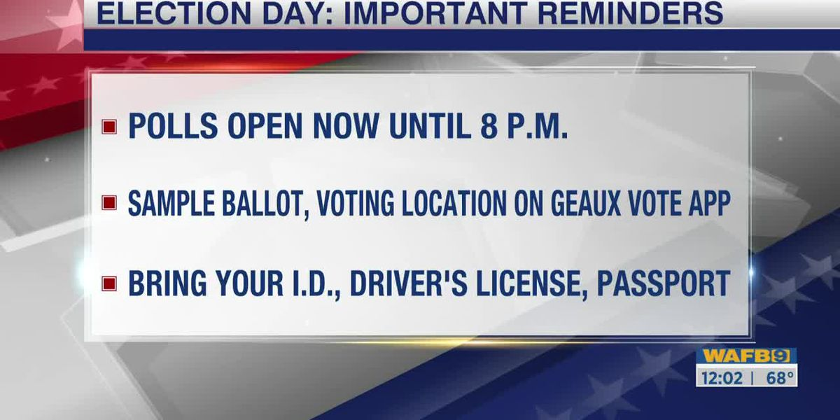 Election Day voter reminders