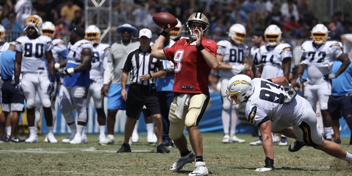 Super Bowl contenders the Saints and Chargers meet up for dual practices