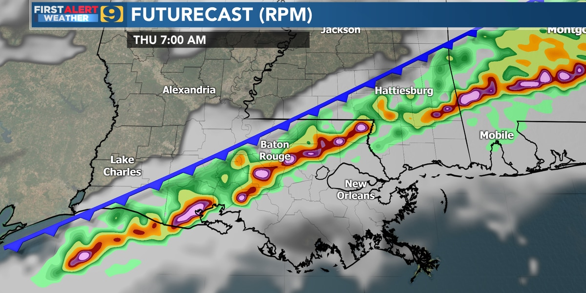 FIRST ALERT FORECAST: Storms possible Wed/Thurs