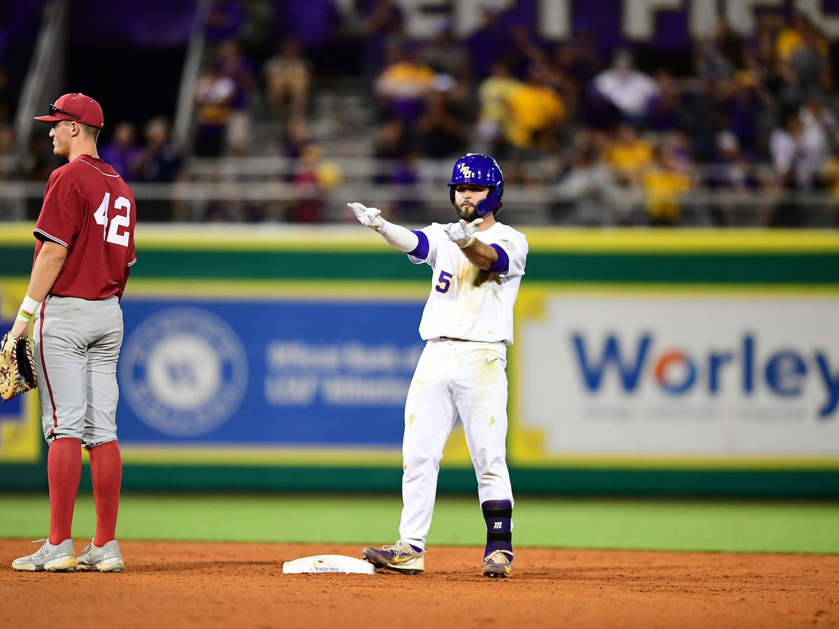 LSU holds on to beat Alabama 2-1, out hit 13 to 5