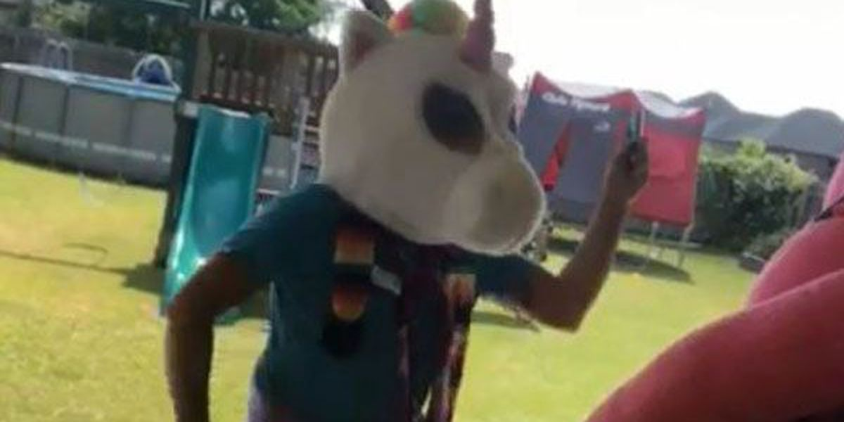 Dancing unicorn dad helps kick off LEAP week with a laugh