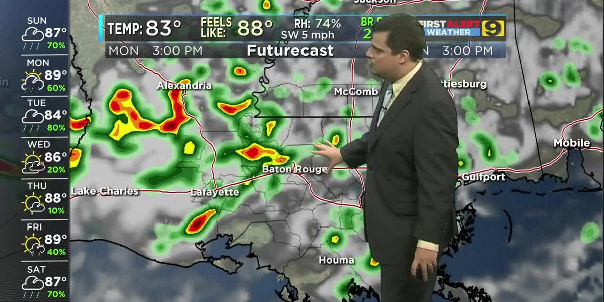 FIRST ALERT 8 A.M. FORECAST: Sunday, July 21