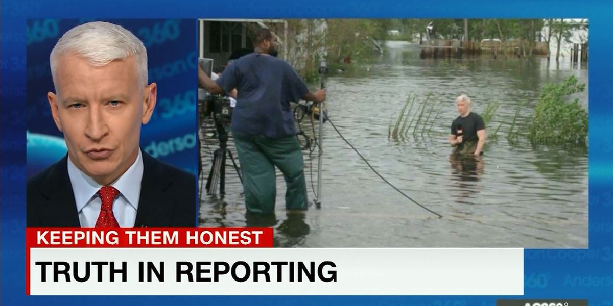 No, Anderson Cooper was not exaggerating Florence flood levels