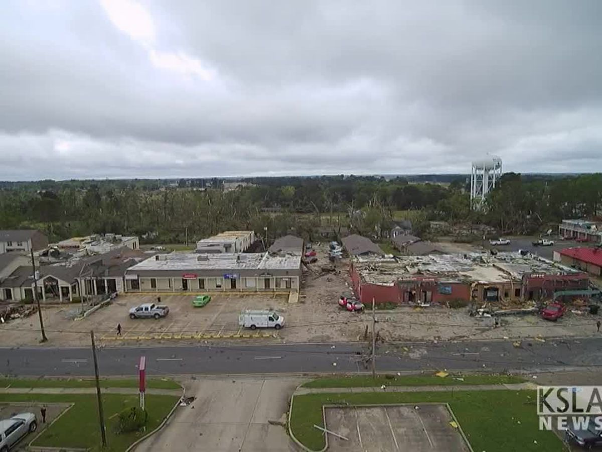NWS report: 7 tornadoes confirmed in Texas, Louisiana