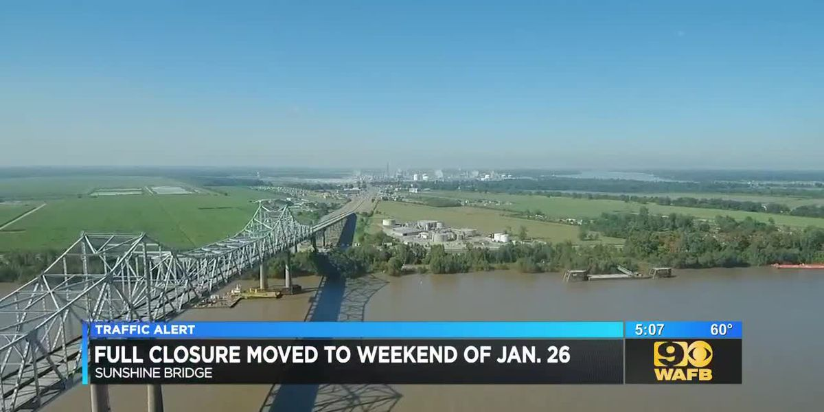 Work on Sunshine Bridge rescheduled to weekend of Jan. 26 and 27
