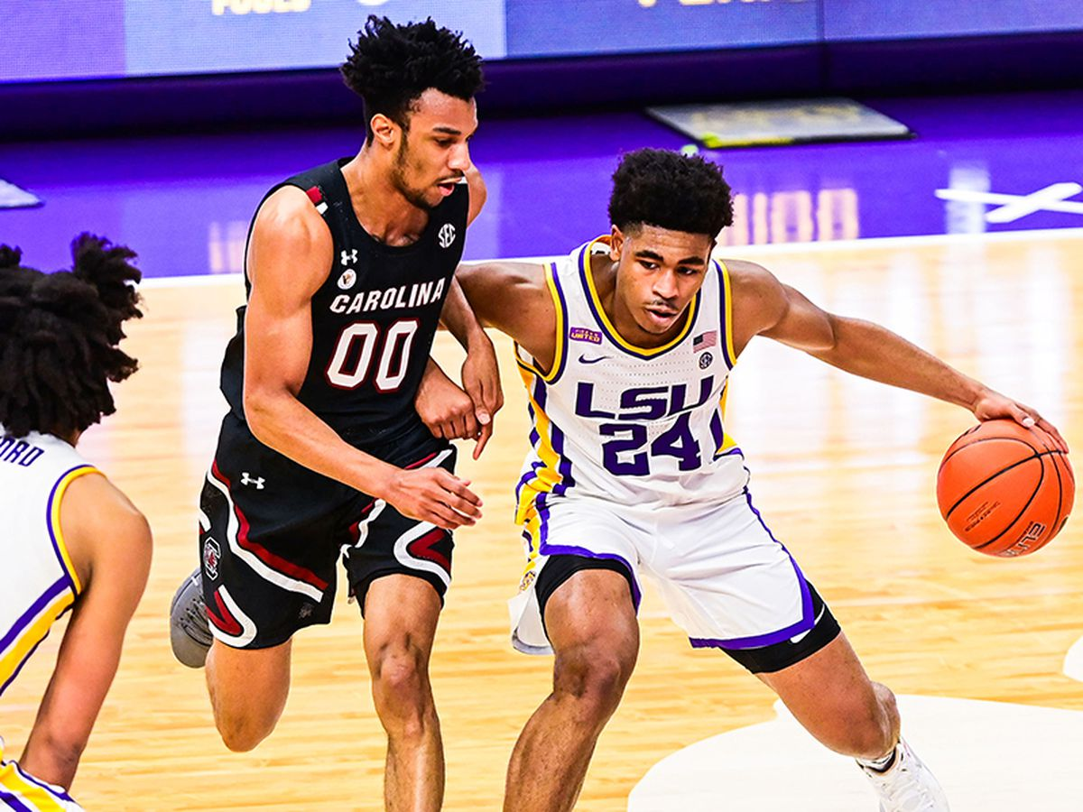 LSU claws its way to 85-80 win over South Carolina