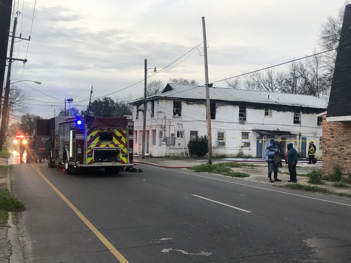 Space heater causes massive damage to N. Acadian apartment complex; no injuries