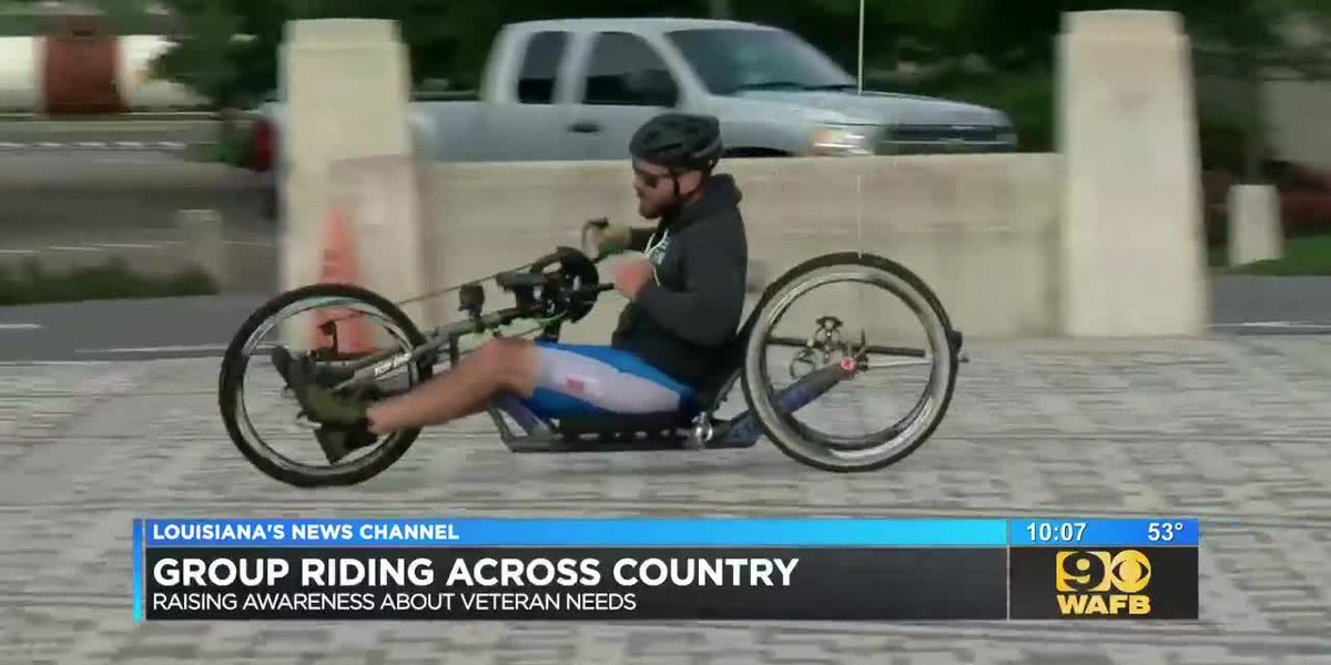 Paralyzed vet cycles across the country for good cause