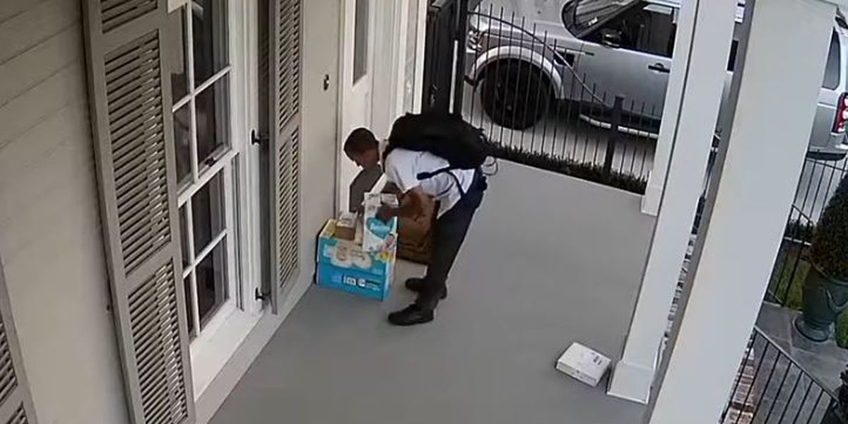 VIDEO: Porch pirate caught stealing package from Uptown home
