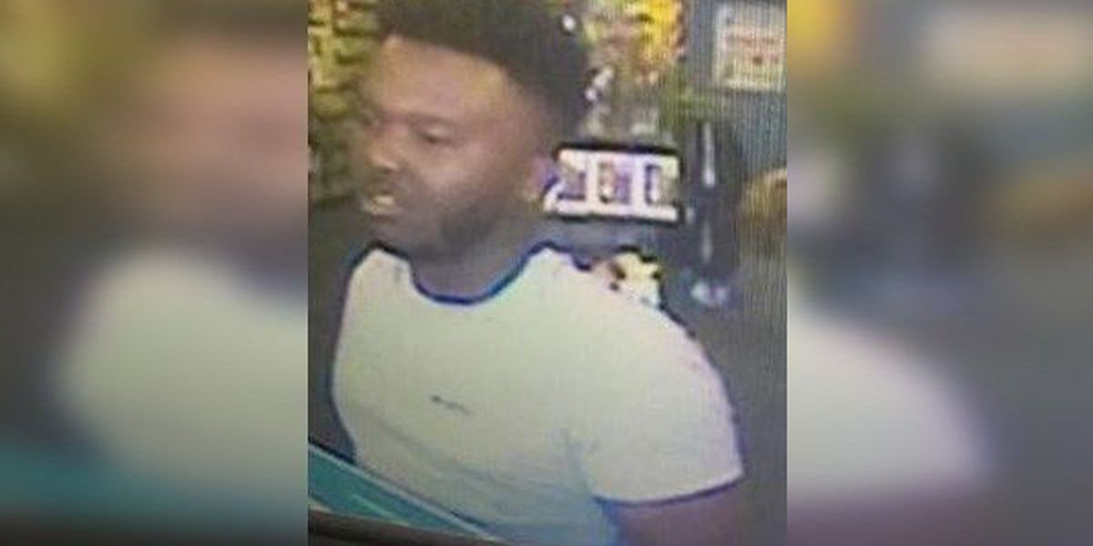 Police: Man sought for stealing purse from car at gas station