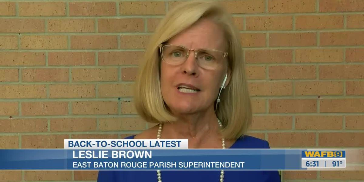 EBRSS Superintendent Leslie Brown discusses options for returning to school during COVID-19 pandemic