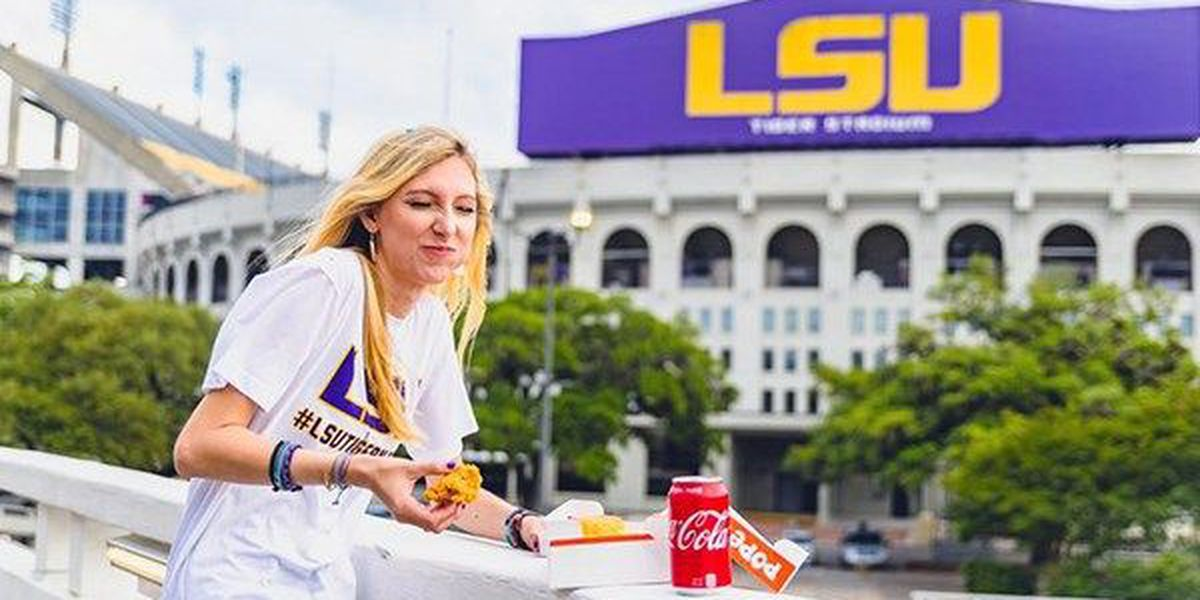 LSU grad shows her love for Popeyes with hilarious photo shoot