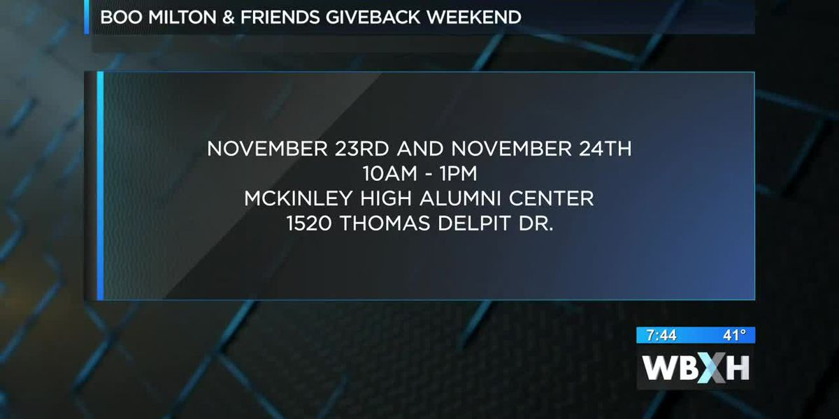 Boo Milton and Friends Giveback Weekend