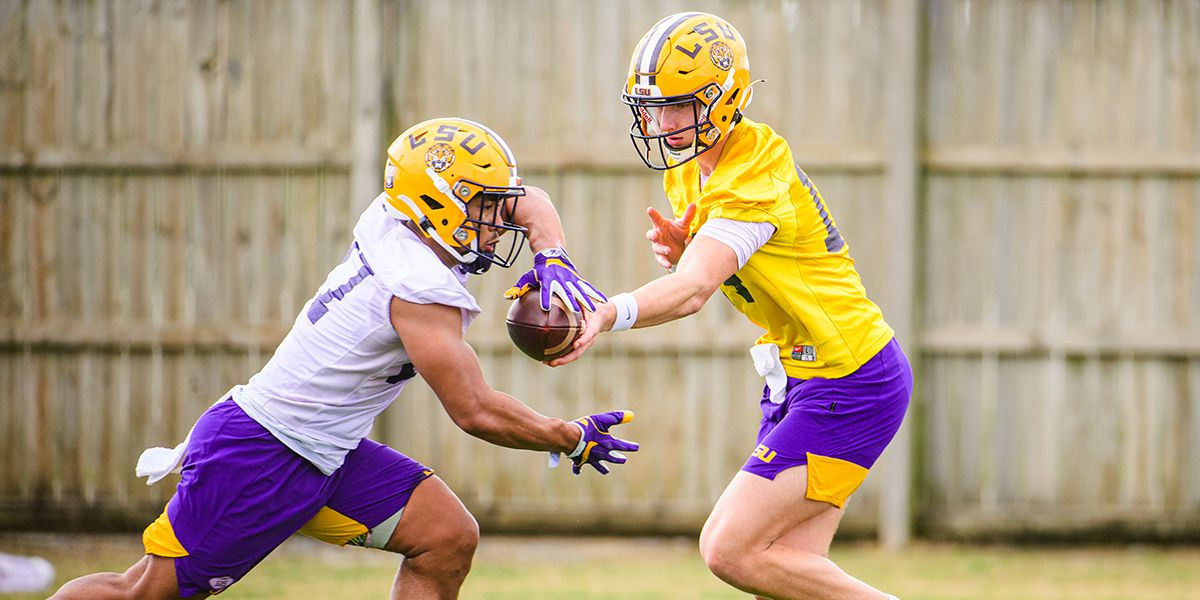 LSU holds first practice of 2021 spring football