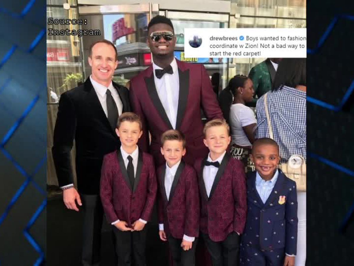 Brees and Zion forming budding relationship over New Orleans sports