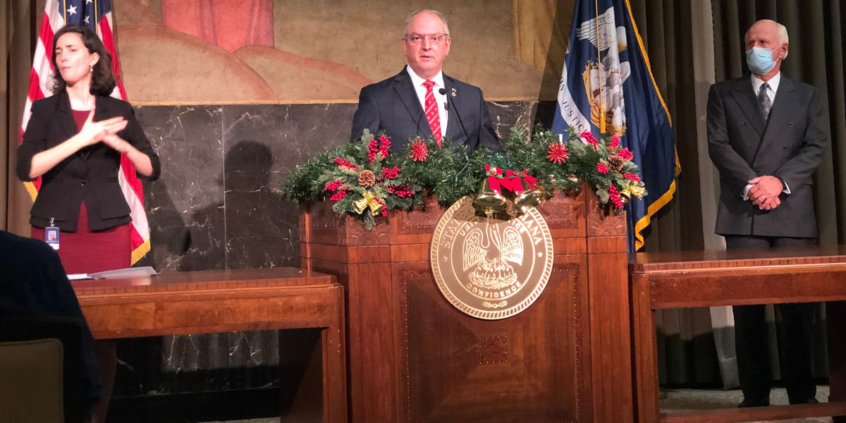 Gov. Edwards holds news conference on La. winter weather conditions, COVID-19 Thursday