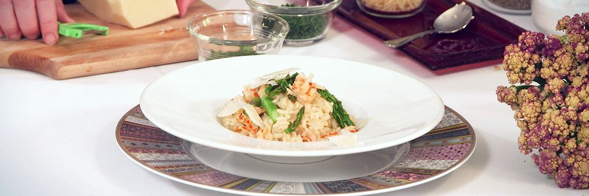 Crawfish and Asparagus Risotto