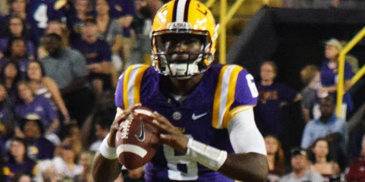 Former LSU QB Brandon Harris announces he's transferring to North Carolina