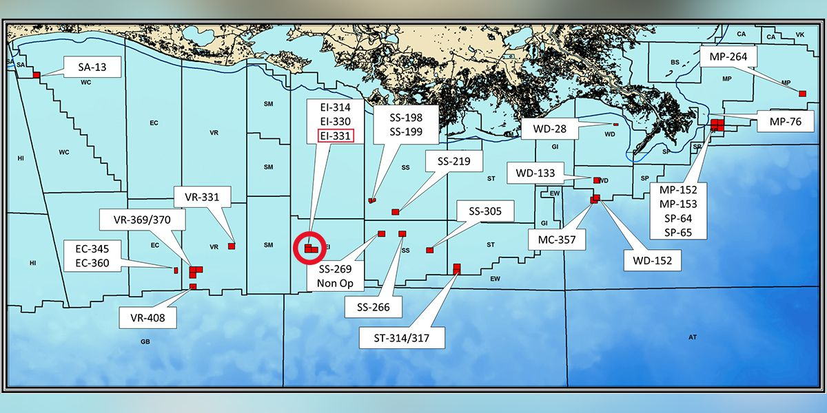louisiana oil rig map Coast Guard Searching For Oil Platform Worker In Gulf Of Mexico louisiana oil rig map