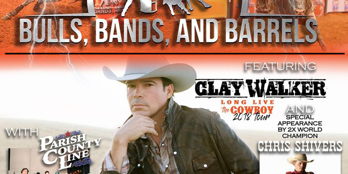 Country singer Clay Walker to headline 'Bulls, Bands and Barrels' in Gonzales