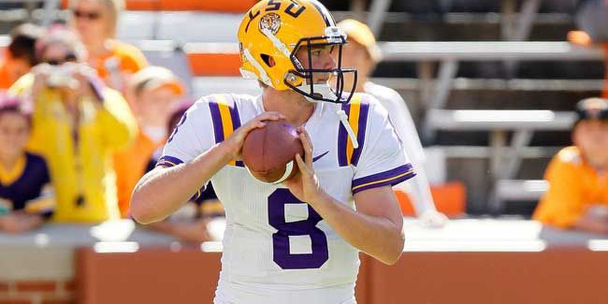 Former LSU quarterback waived by the Titans