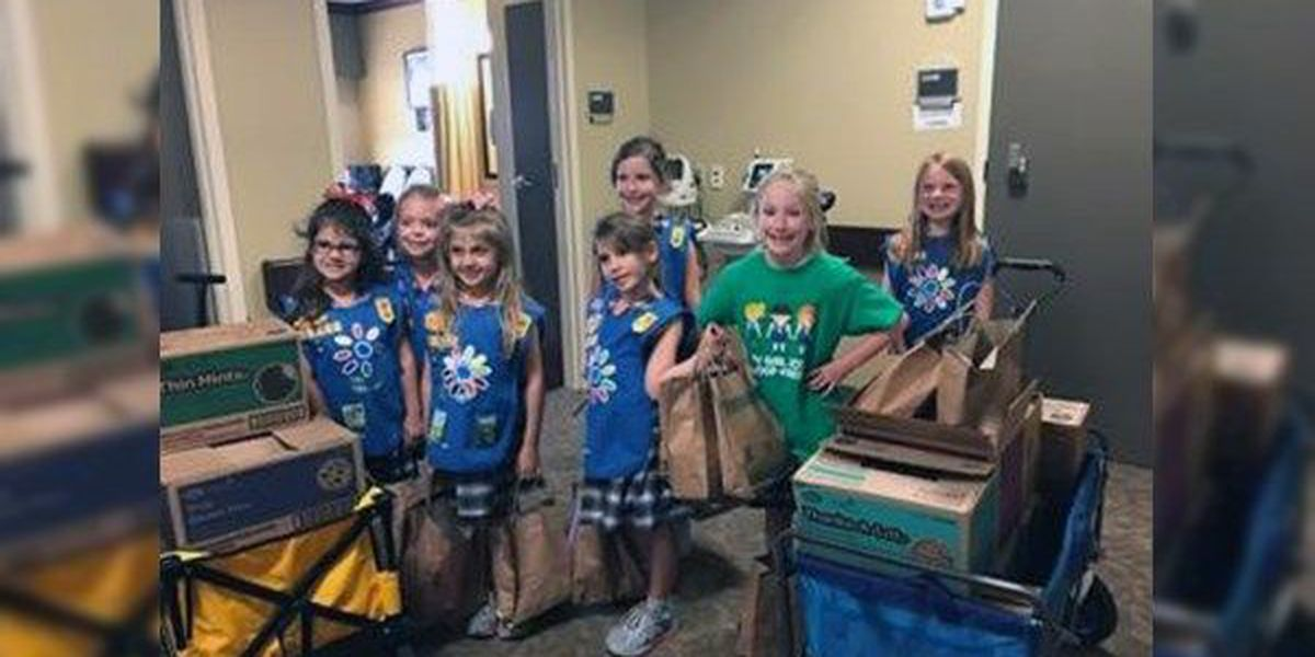 1st grade Girl Scouts donate to kids at BRG Burn Center