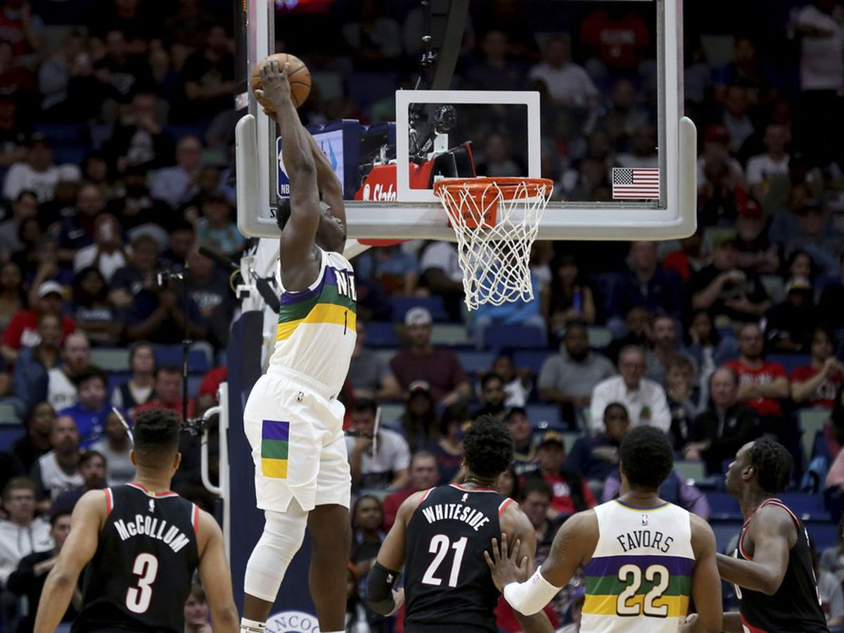 Zion's 31 points pushes Pelicans past Blazers, 138-117