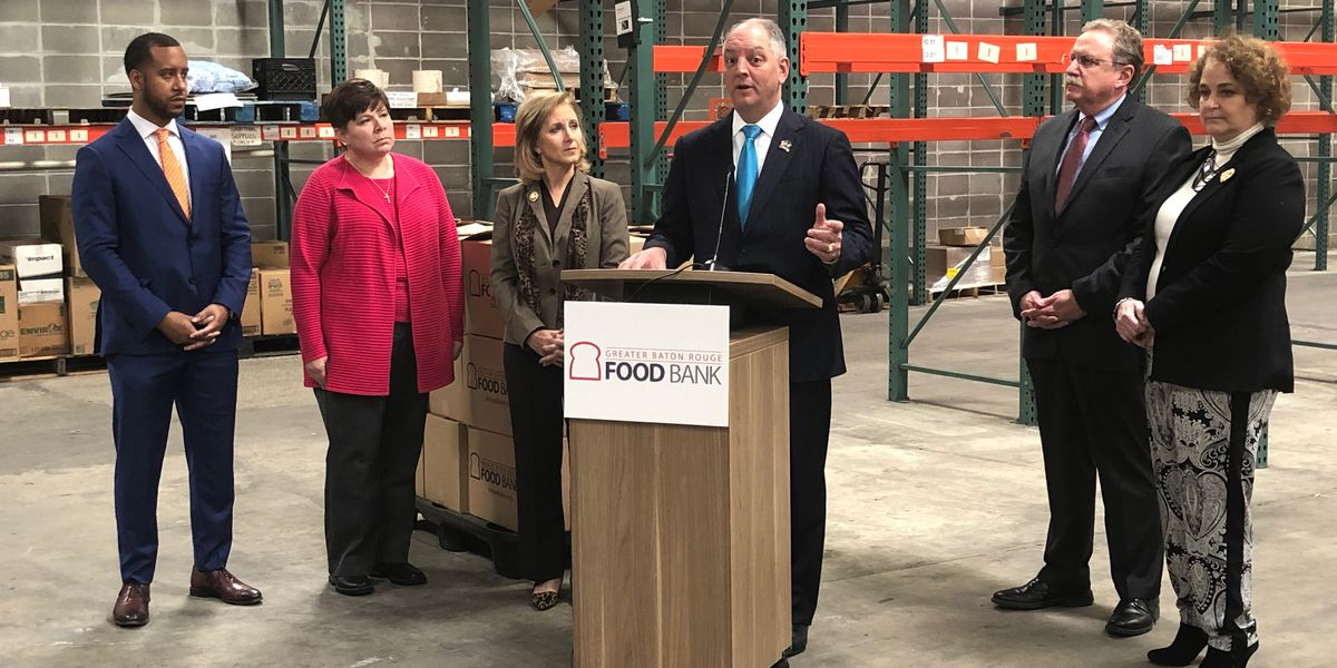 Gov. Edwards calls on citizens to help fill critical need at food banks
