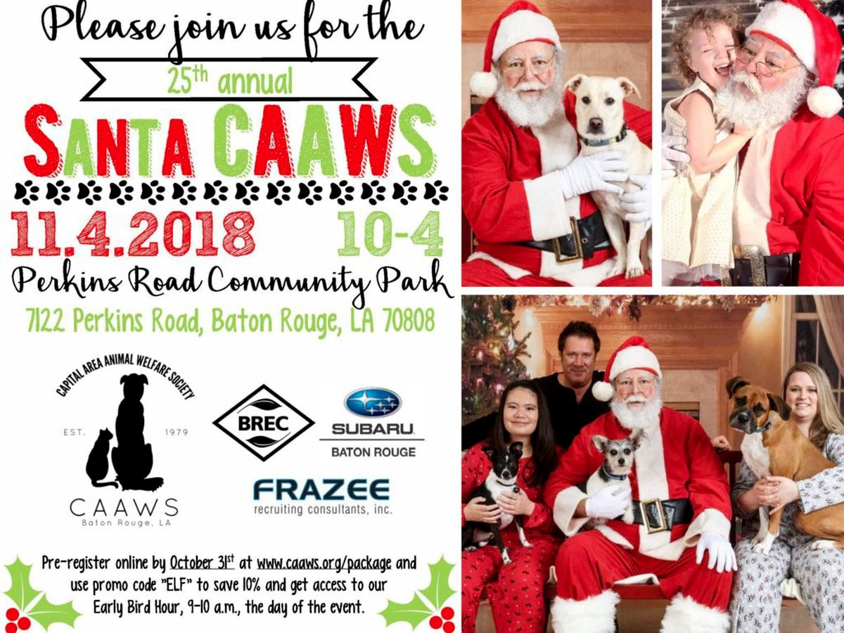 CAAWS hosting annual 'Santa CAAWS' fundraiser in November