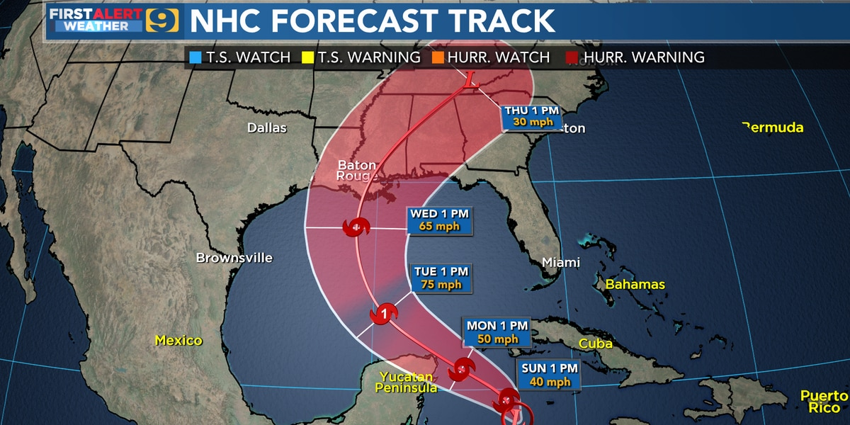 Louisiana once again in the cone of newly formed Tropical Depression #28