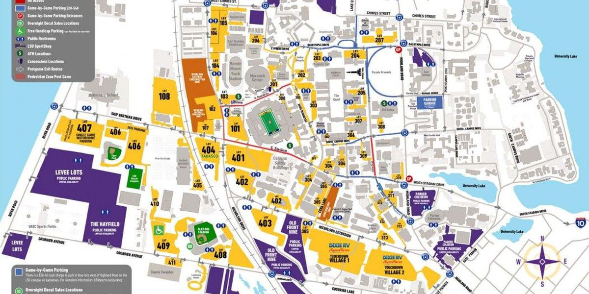 LSU issues traffic and parking reminders ahead of home opener