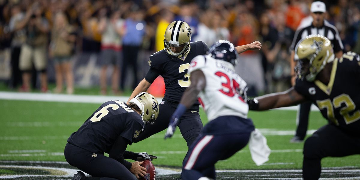 Saints kicker named NFC's Special Teams Player of the Week