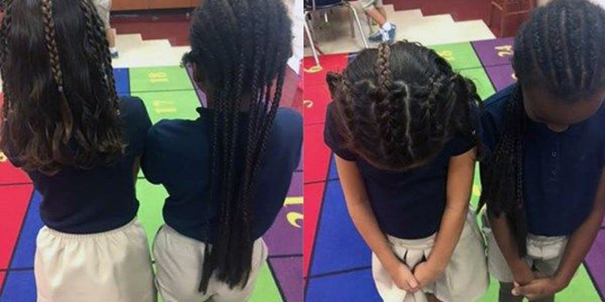 Little girl requests braids so she can be 'twins' with best friend
