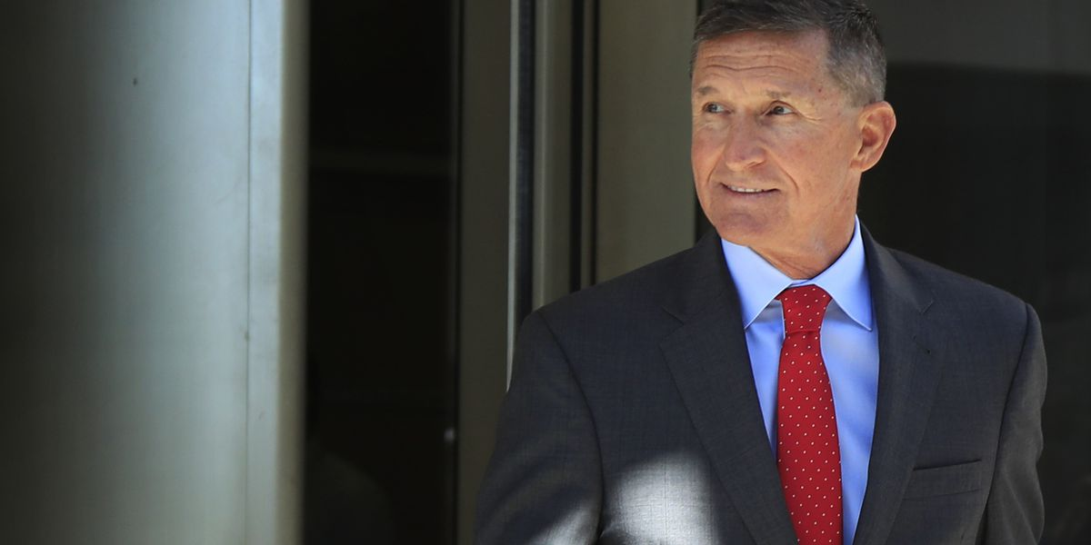 Flynn at sentencing, with 'Good luck' wish from Trump