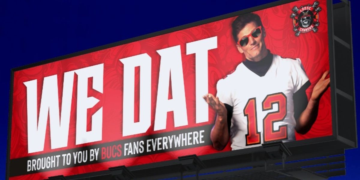 Bucs fans create GoFundMe to purchase 'We Dat' billboard in New Orleans to troll Saints fans
