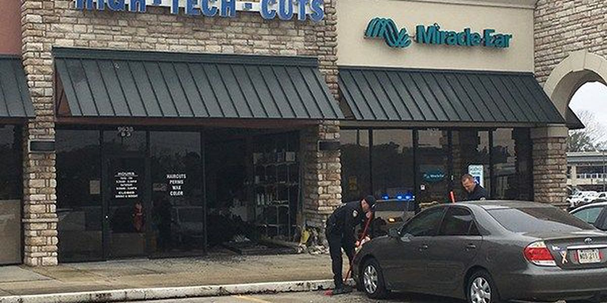 Driver uninjured after accidentally crashing into salon