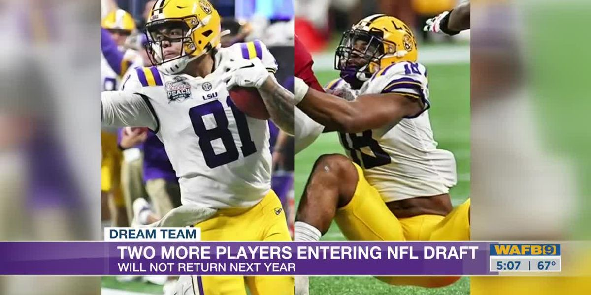 Two more LSU players,Thaddeus Moss and K'Lavon Chaisson, declare for NFL Draft