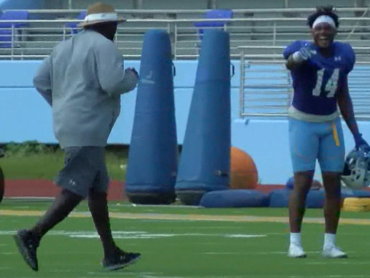 Southern's defense forces enough turnovers during practice to make coaches run after practice