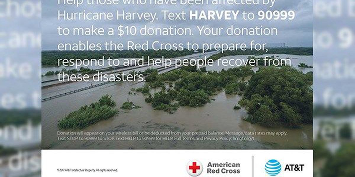 AT&T donating more than a quarter of a million to communities affected by Harvey