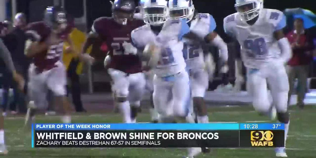 Zachary's Chandler Whitfield and Keilon Brown: Sportsline Players of the Week
